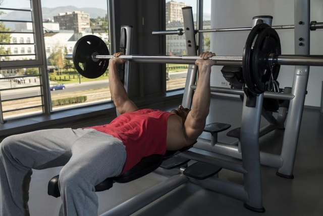 The bench press is a classic chest exercise.