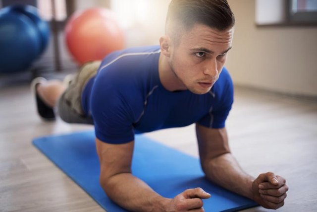 The push-up plus exercise focuses on your serratus anterior muscle.