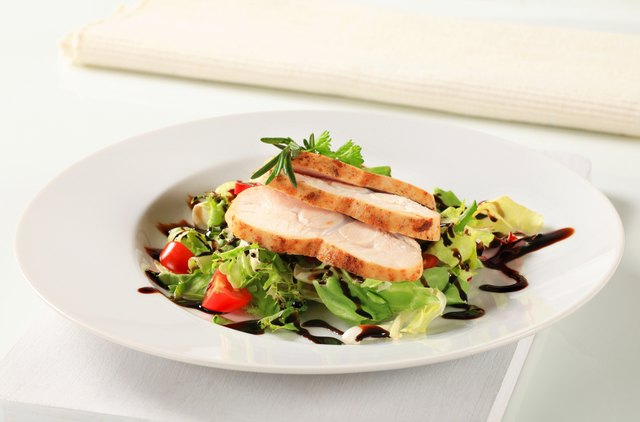 Green salad with chicken.