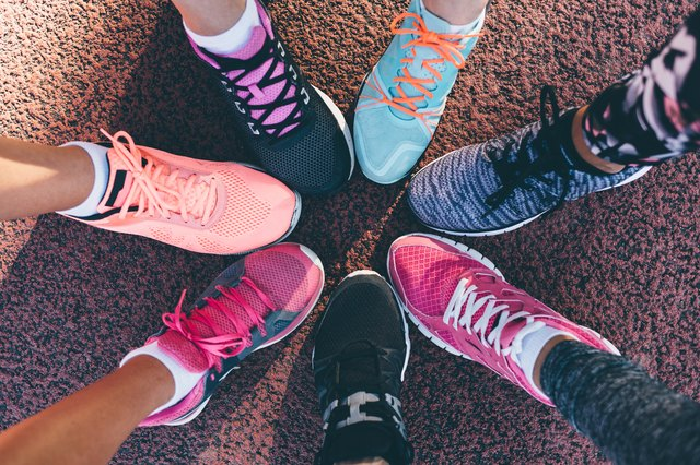 A wide variety of running shoes are available.