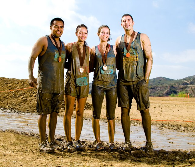 Mud runs with your best buds can be a blast.