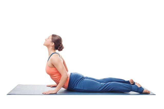 Cobra pose stretches your chest and strengthens your back.