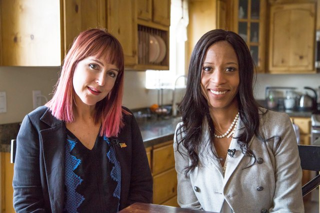 LIVESTRONG Editor-in-Chief Jess Barron and Congresswoman Mia Love.