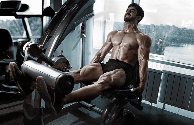 Build strong quads with the leg extension machine.