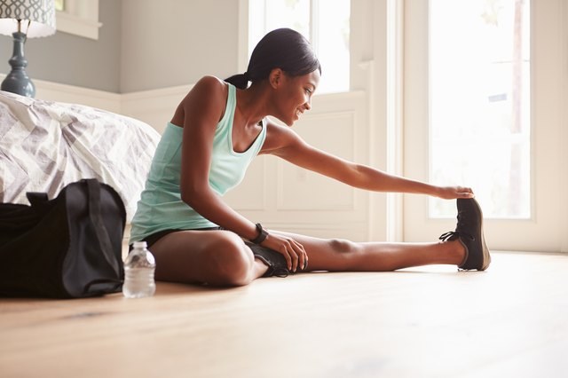 Stretching can improve your joints' range of motion.