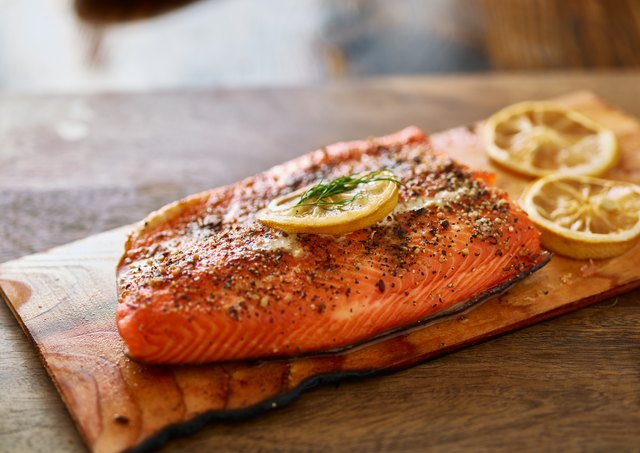 Salmon is another excellent source of choline.