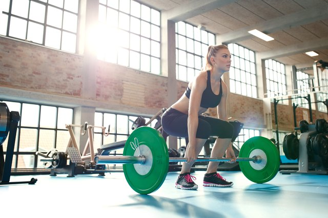 Deadlifts build up the big muscles in the back of your leg.