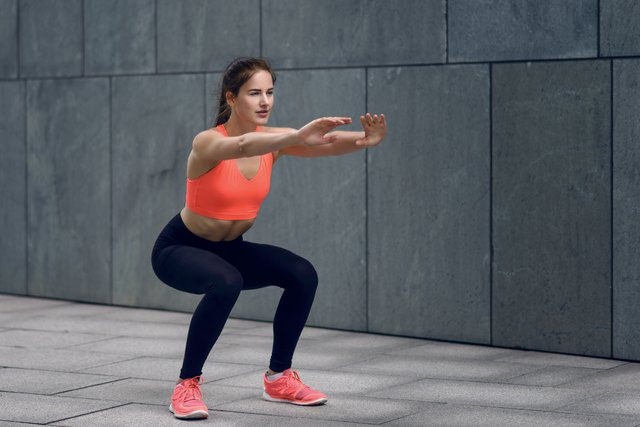 Get your knees used to handling some resistance with bodyweight squats.