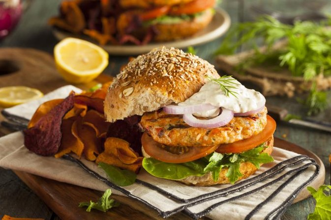 Nutrition of Salmon Burgers