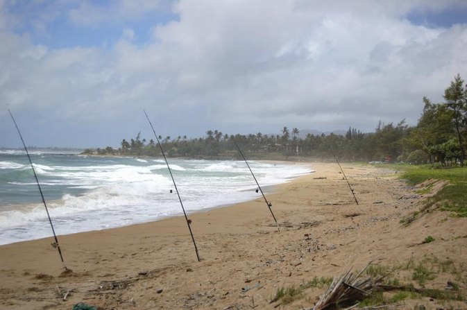Shore Fishing in Kauai, Hawaii