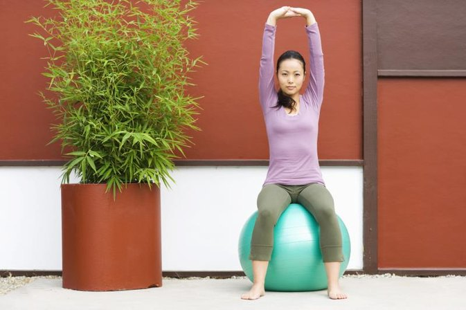 Wall Squats with the Stability Ball