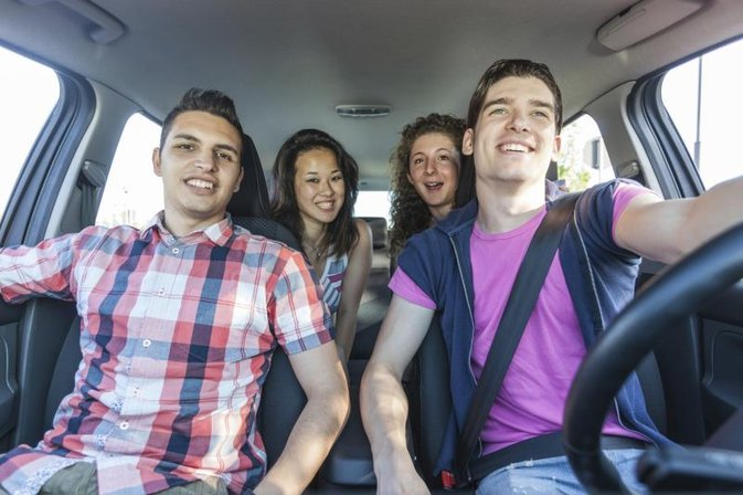 Pros & Cons of Teens Driving to School