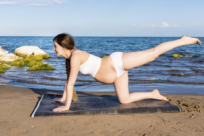 Leg & Hip Stretches During Pregnancy