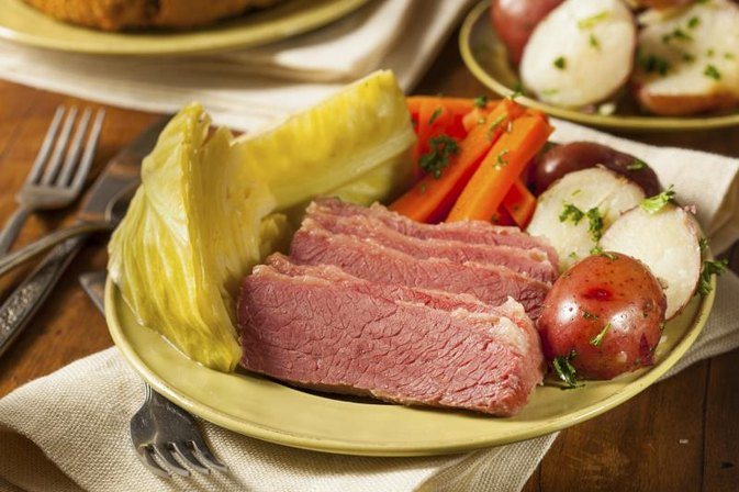 How to Cook Corned Beef & Cabbage the Night Before & Reheat It in the Oven