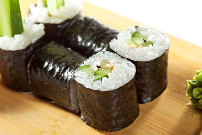 Calories in a Cucumber and Avocado Roll