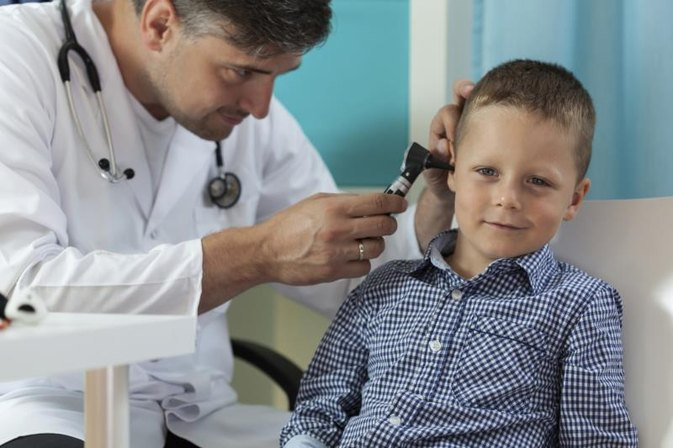Eczema Inside Ears of Children
