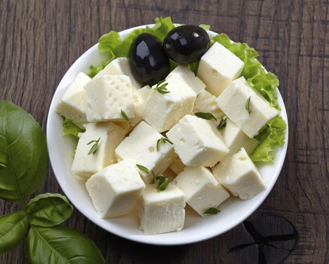 Nutrition of Goat Cheese vs. Feta Cheese