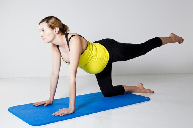 Pregnancy Workout for the Butt & Legs