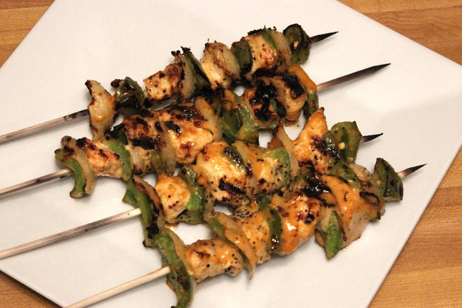 How to Grill Shish Kebabs on Wood Sticks