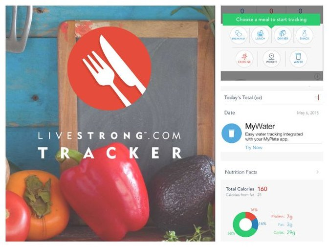 3D Touch Quick-Access NEW in LIVESTRONG Calorie Tracker for iOS