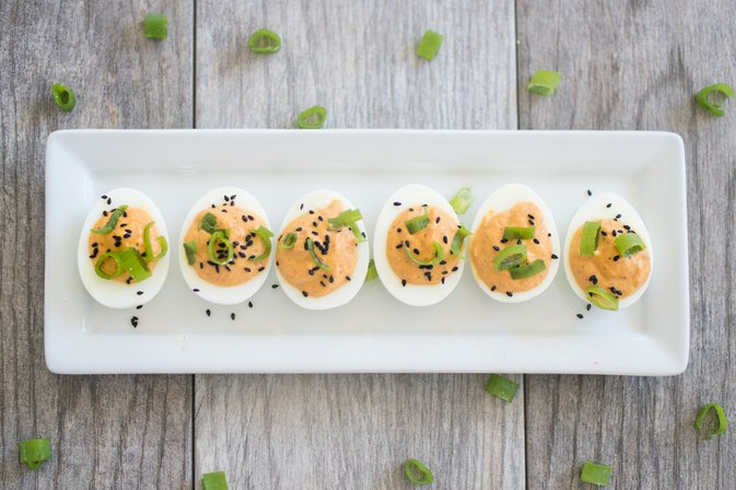 How to Make Kimchi Deviled Eggs