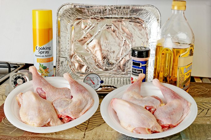 How to Cook Chicken Legs & Breasts in the Oven