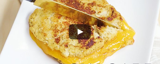 How to Make Gooey, Low-Carb Cauliflower Grilled Cheese