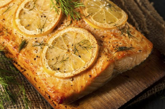 How to bake salmon on a cedar plank livestrong com for Grilling fish on cedar plank