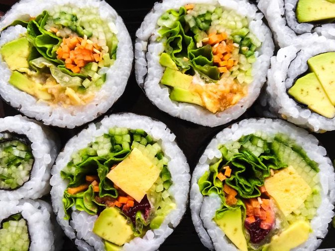 The Nutrition of Vegetable Sushi