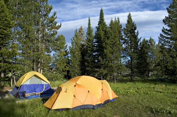 Campgrounds at the East Entrance to Yellowstone Park