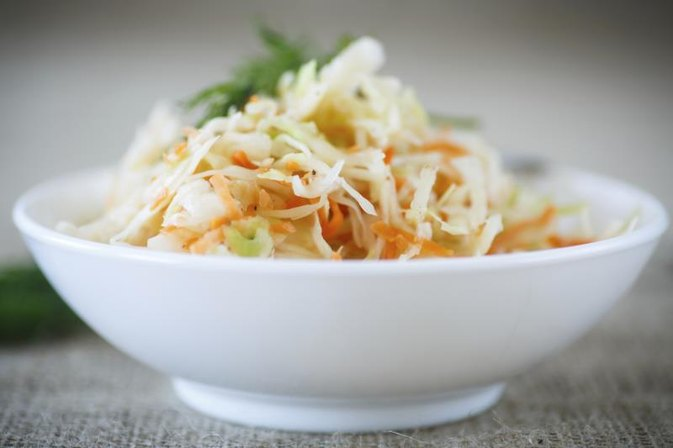 The Nutrition Facts for a Vinegar-Based Cole Slaw