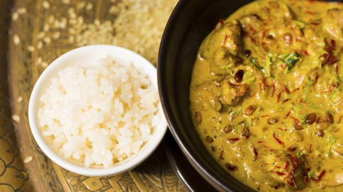 Calories of Chicken Curry & Boiled Rice