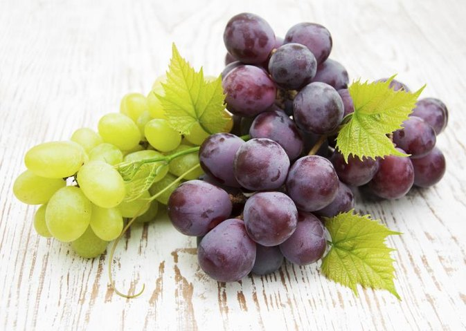 Calorie & Fat Count in Grapes