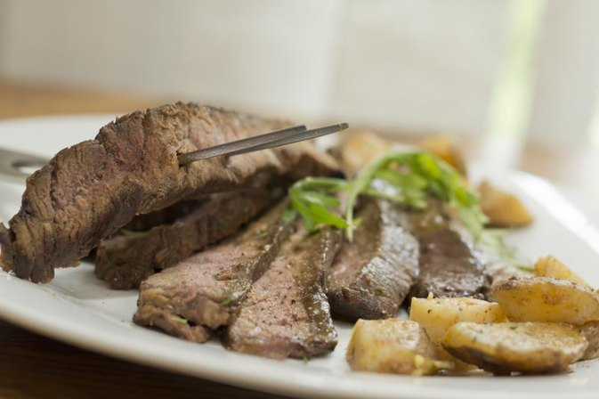 How to Pan Sear a Marinated Flank Steak