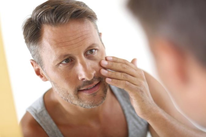 Help for Dry Facial Skin & Red Skin Around the Nose in Men