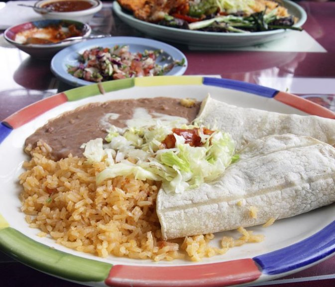 Calories in Refried Beans and Spanish Rice