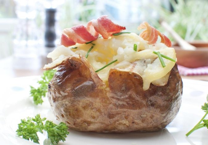 How to Bake Potatoes in Microwaves Then Ovens