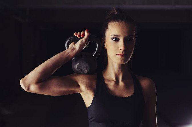 Kettlebell Exercises for Underarm Flab