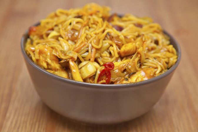 The Nutrition Information for Singapore Noodles