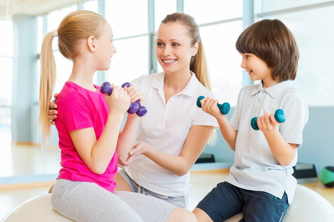 Good Exercises With Dumbbells for Kids
