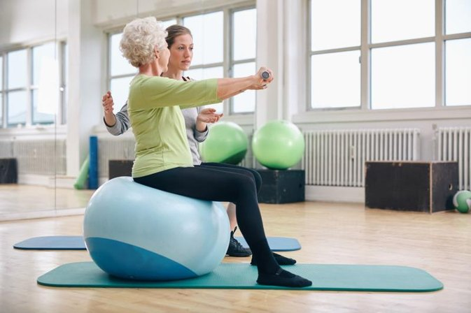 Stability Ball Exercises for Seniors | LIVESTRONG.COM