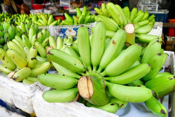 Cooked green banana