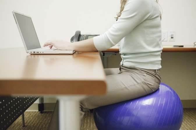 calories burned sitting on an exercise ball | livestrong