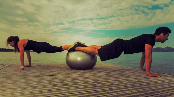 Lower Ab Exercises With a Stability Ball