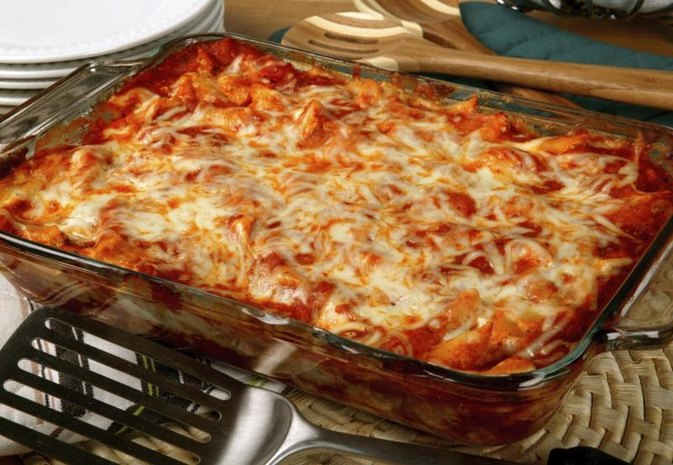 Ziti Bake With Ground Beef & Ricotta Cheese