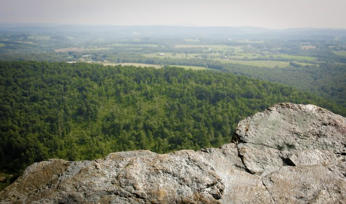 Hiking the Pinnacle in Hamburg, Pennsylvania