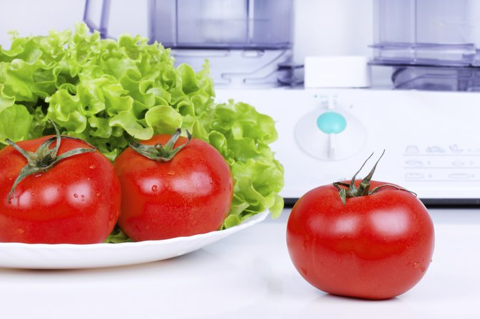 Cutting Vegetables in a Food Processor