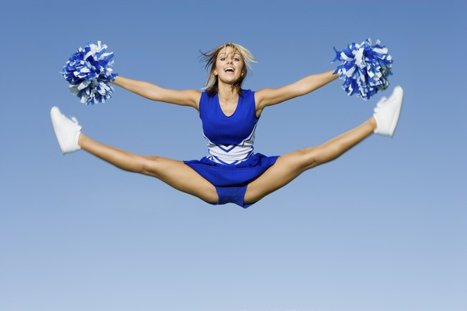 How to Do a Cheerleading Toe Touch picture