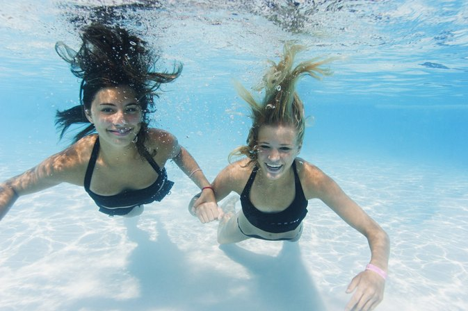 Swimming Pool Games For Two People Livestrong Com