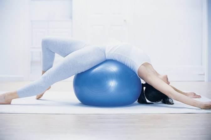 Stability Ball Back Stretches